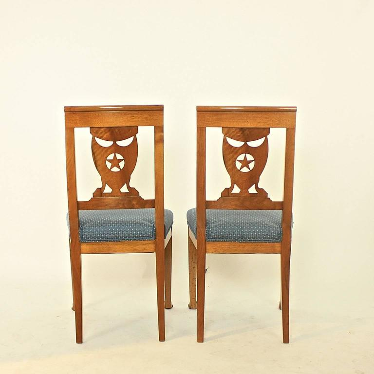Set of Six Late 18th Century Directoire Dining Chairs, workshop of P.M. Balny For Sale 3