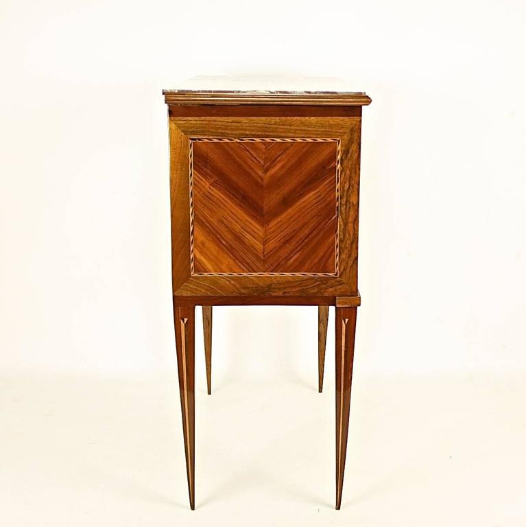Marquetry Late 18th Century Louis XVI Side Table or 'Table Chiffonière' For Sale