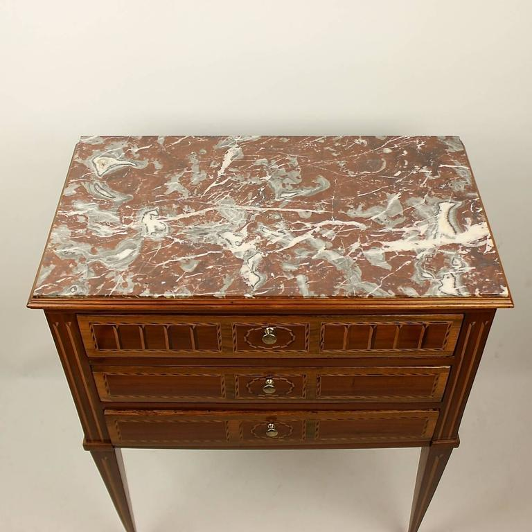 Late 18th Century Louis XVI Side Table or 'Table Chiffonière' For Sale 4