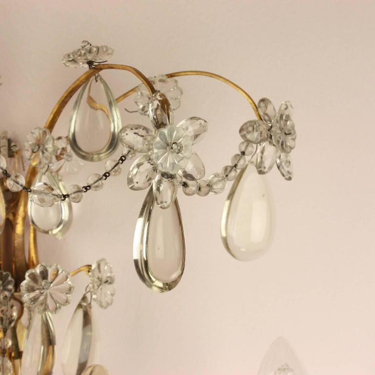 Régence Pair of Regence Style Maison Bagues Three Branch Wall Sconce, circa 1900 For Sale