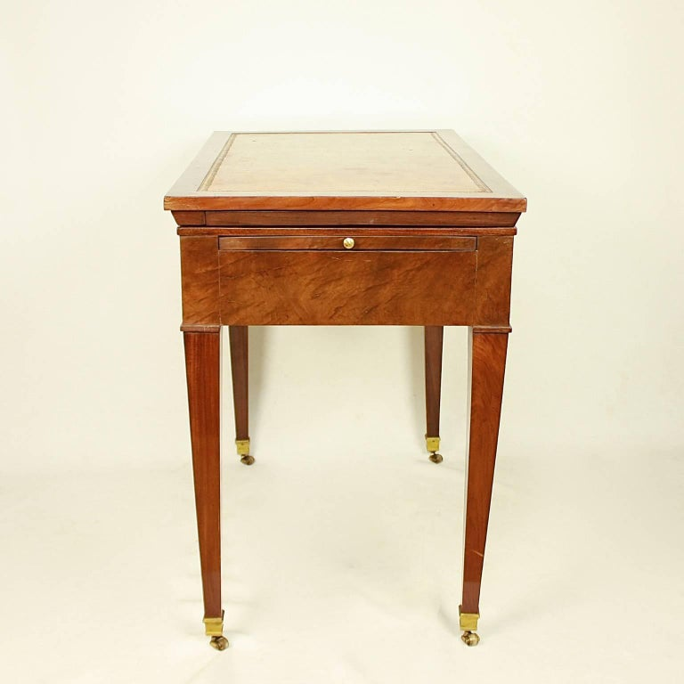 Directoire Mahogany Architect's Table 'Table à Tronchin' In Excellent Condition For Sale In Berlin, DE