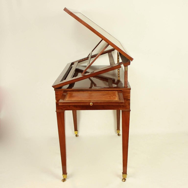 18th Century Directoire Mahogany Architect's Table 'Table à Tronchin' For Sale