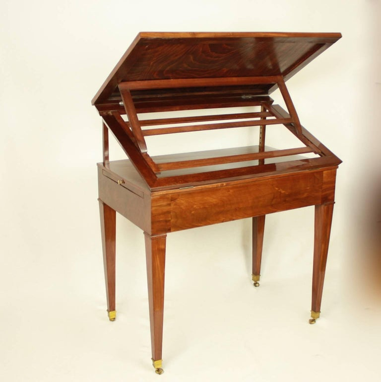 Directoire Mahogany Architect's Table 'Table à Tronchin' For Sale 1