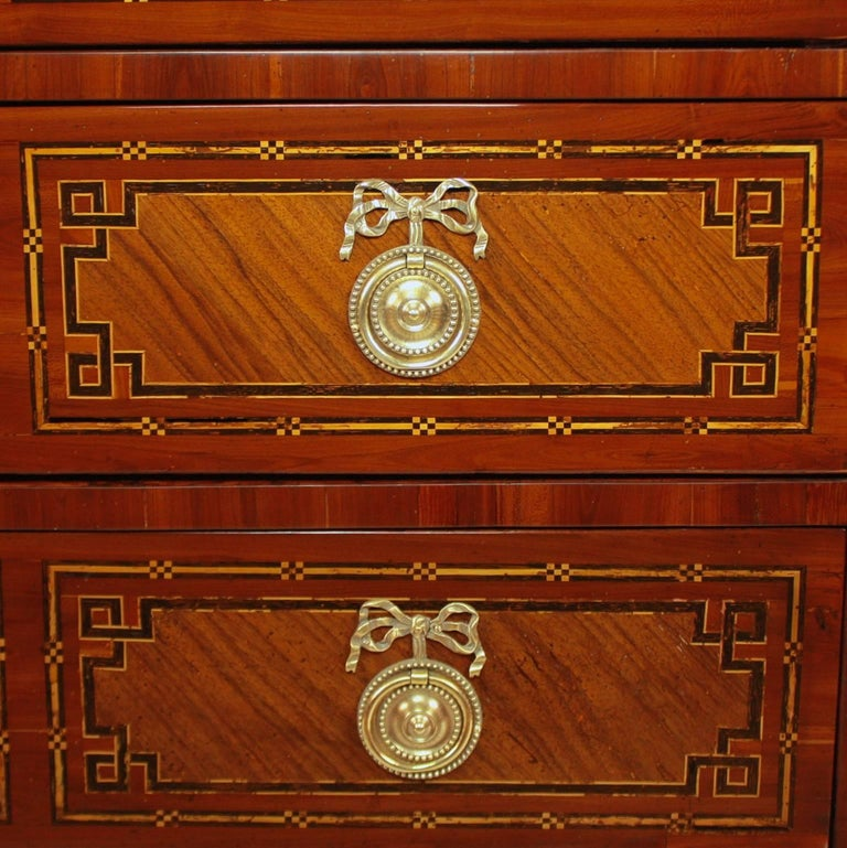 Louis XVI German 18th Century Neoclassical Marquetry Commode, circa 1780 For Sale