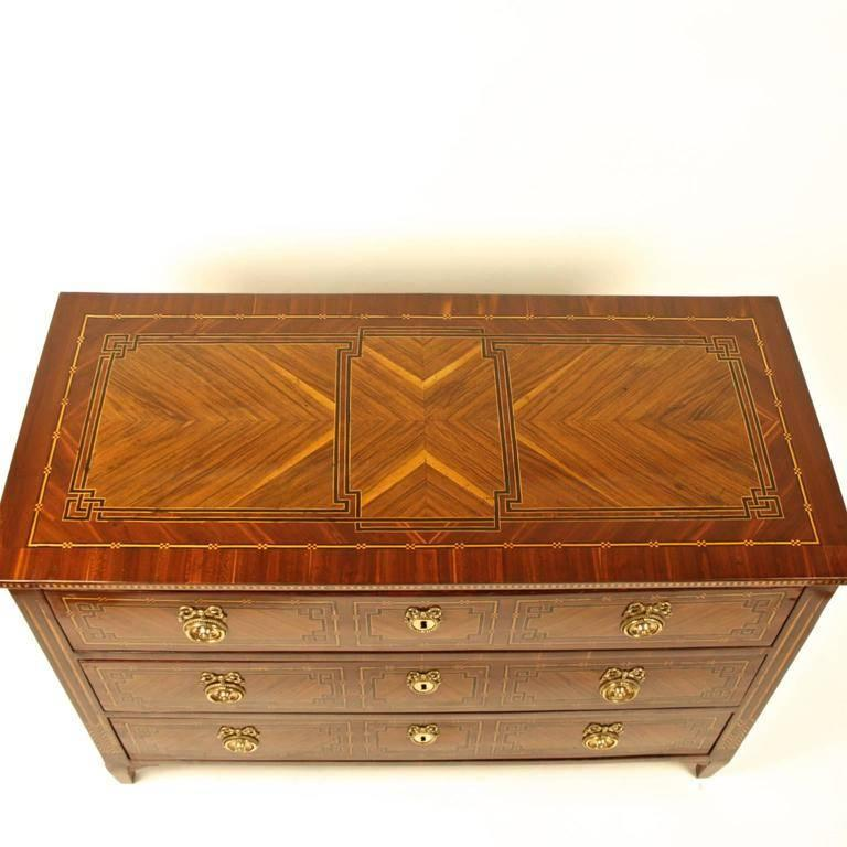 German 18th Century Neoclassical Marquetry Commode, circa 1780 For Sale 3