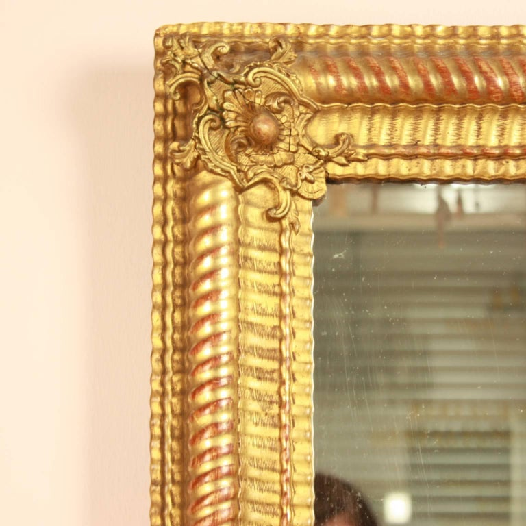 Large 19th century baroque style wall mirror for sale at for Baroque style wall mirror