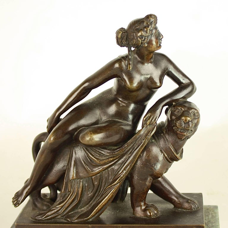 Small Bronze Sculpture of 'Ariadne Riding a Panther' after Dannecker In Excellent Condition For Sale In Berlin, DE