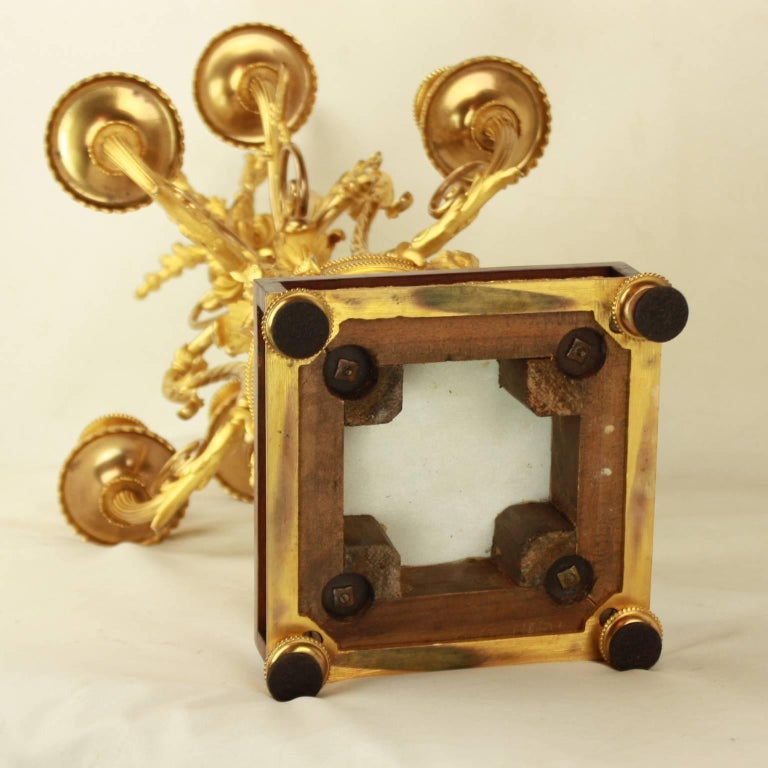 Pair of Louis XVI Style Ormolu Candelabras For Sale 5