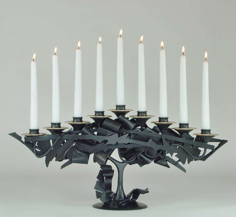 Albert Paley, Menorah, 2013 In Excellent Condition For Sale In Concord, MA