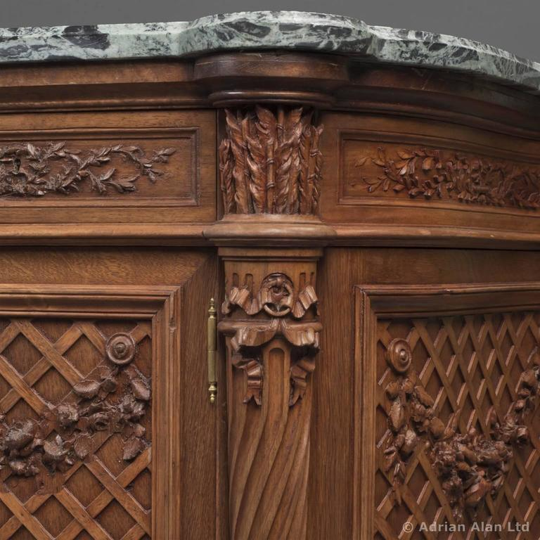 Louis XVI Style Beech Side Cabinet by Maison Grimard, French, circa 1870 For Sale 1
