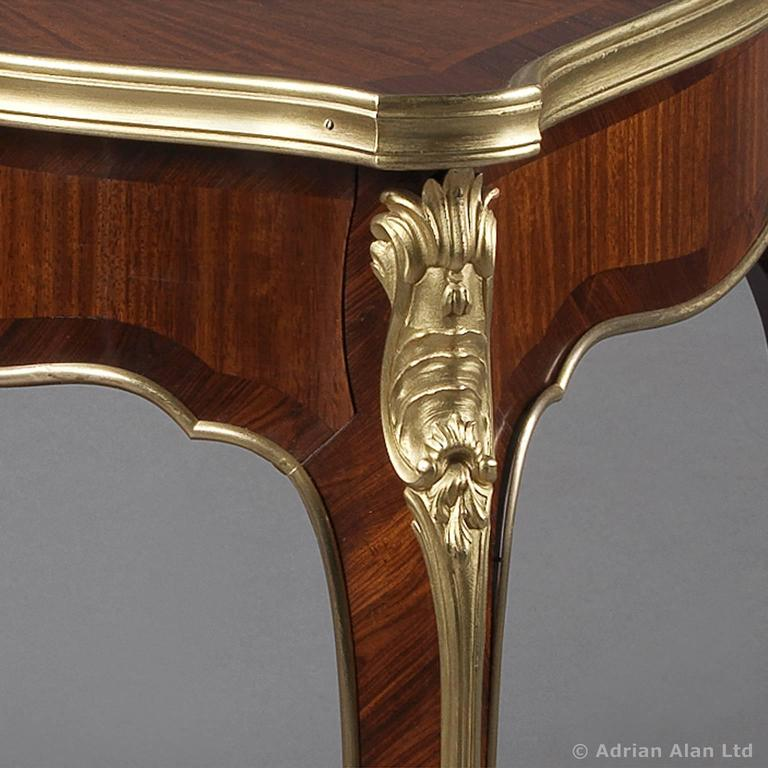 louis xv style marquetry salon table by mercier fr res french circa 1900 for sale at 1stdibs. Black Bedroom Furniture Sets. Home Design Ideas