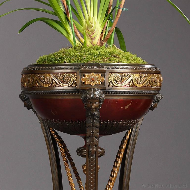 Pair of napoleon iii jardini res attributed to barbedienne for Jardiniere napoleon 3