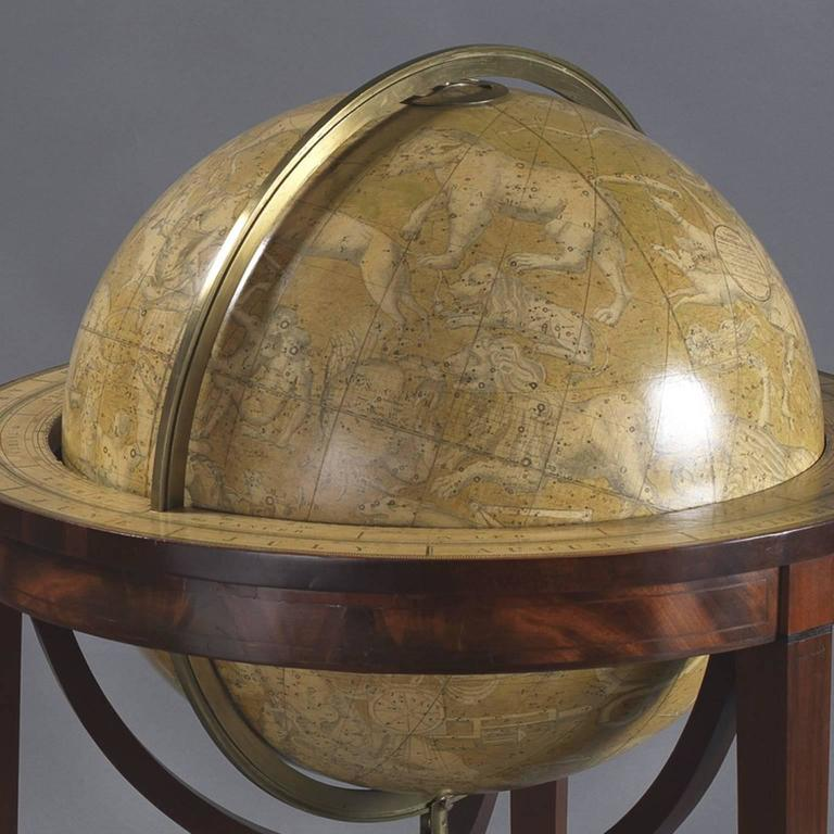 Pair of Library Globes by Smith & Son 4