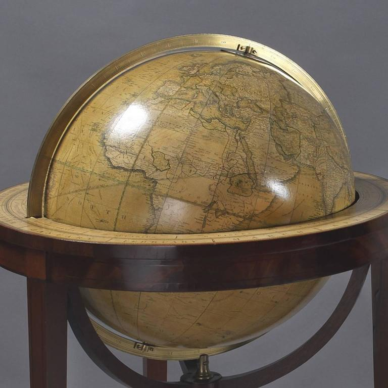 Pair of Library Globes by Smith & Son 2