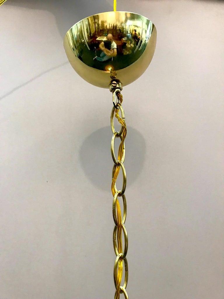 Italian 1970s Glass Globe Pendant Light For Sale 1
