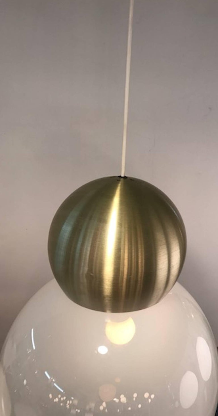Stilux Milano 1970s Large Globe Pendant Light For Sale At