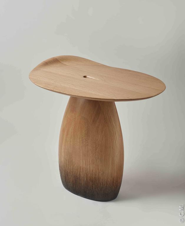 Oak Side Table Tables Enchantes by Designer Hoon Moreau For