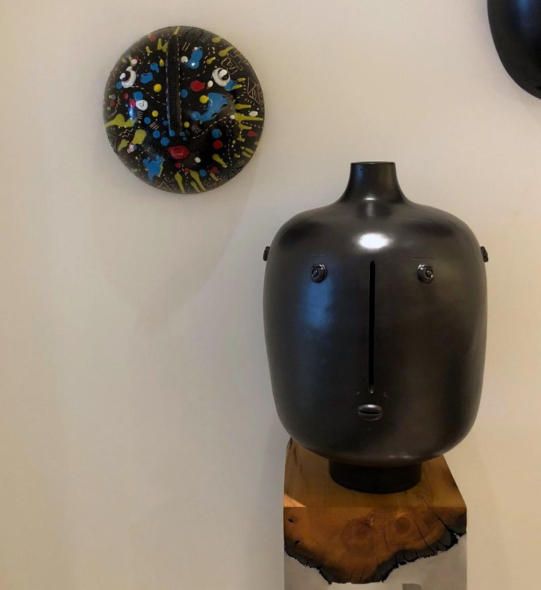 Ceramic Mask Signed Both by DaLo & Street Artiste Cumbone For Sale 2