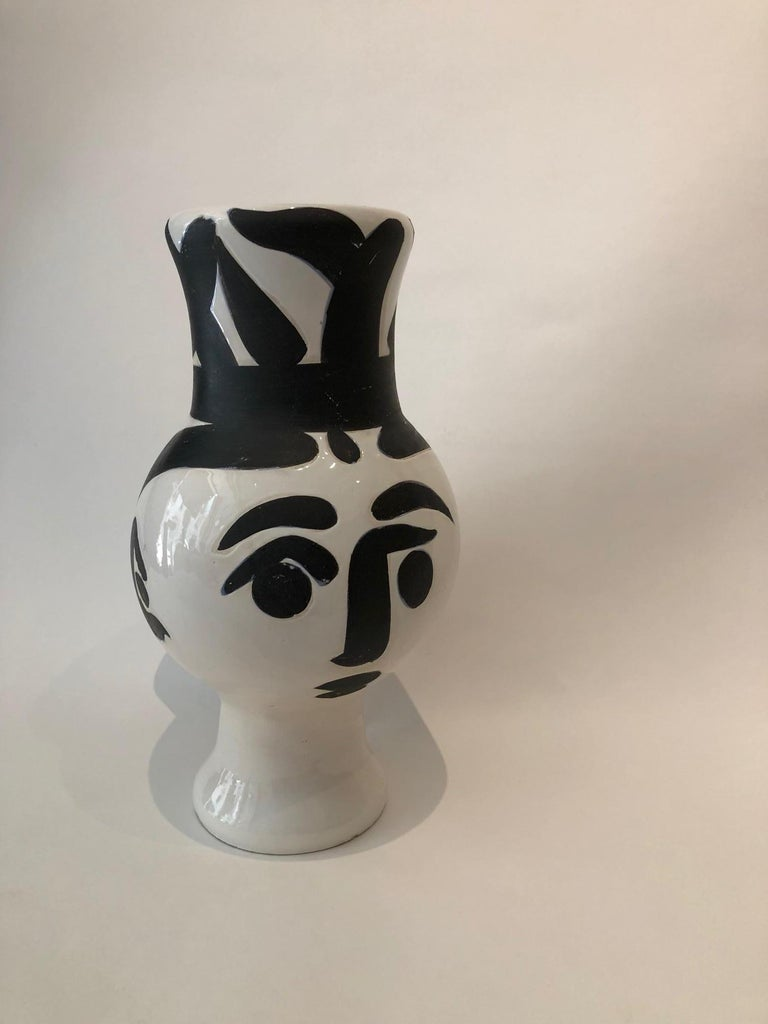Mid-20th Century Picasso Edition Madoura Ceramic Wood Owl Woman Vase 1951 For Sale