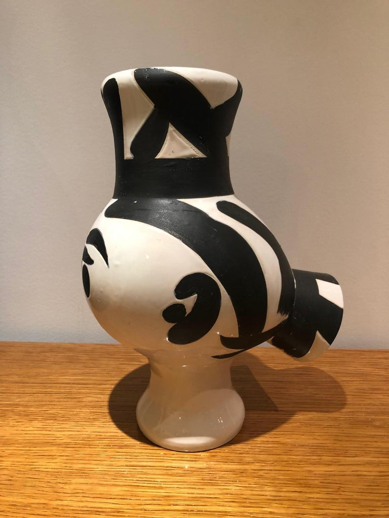 Picasso Edition Madoura Ceramic Wood Owl Woman Vase 1951 For Sale 2