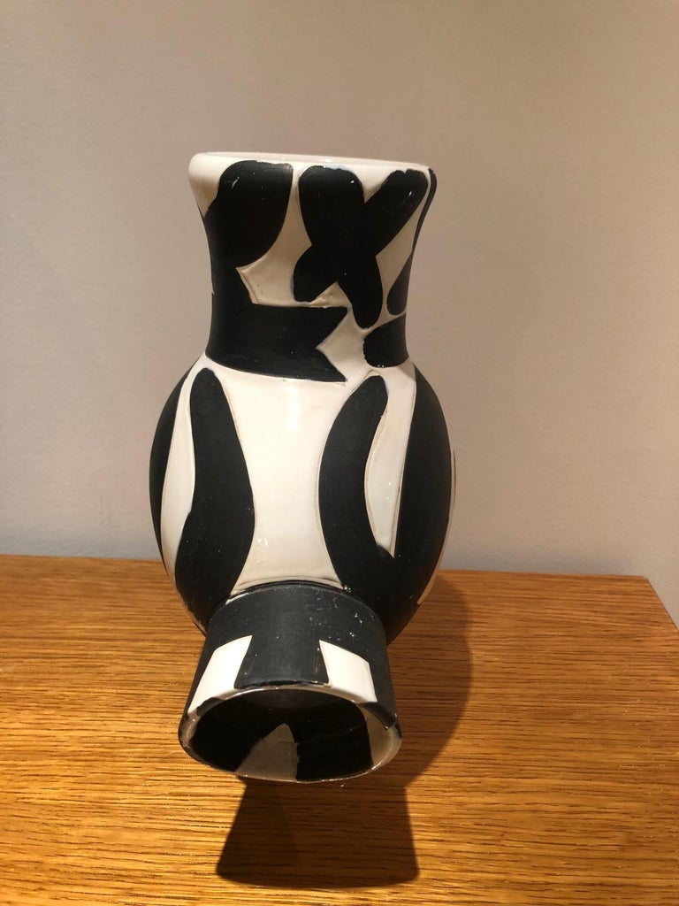 Picasso Edition Madoura Ceramic Wood Owl Woman Vase 1951 For Sale 3