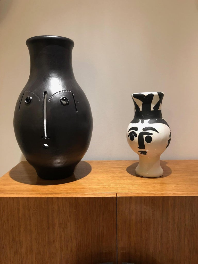 Picasso Edition Madoura Ceramic Wood Owl Woman Vase 1951 For Sale 5