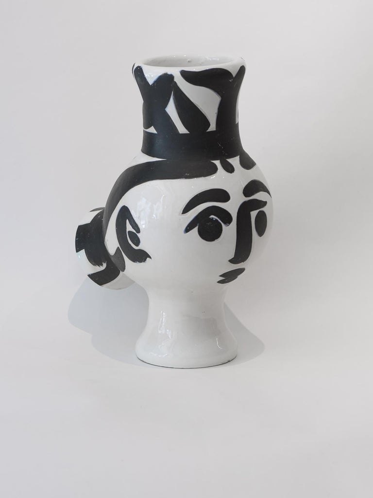 Picasso Edition Madoura ceramic turned vase from 1951