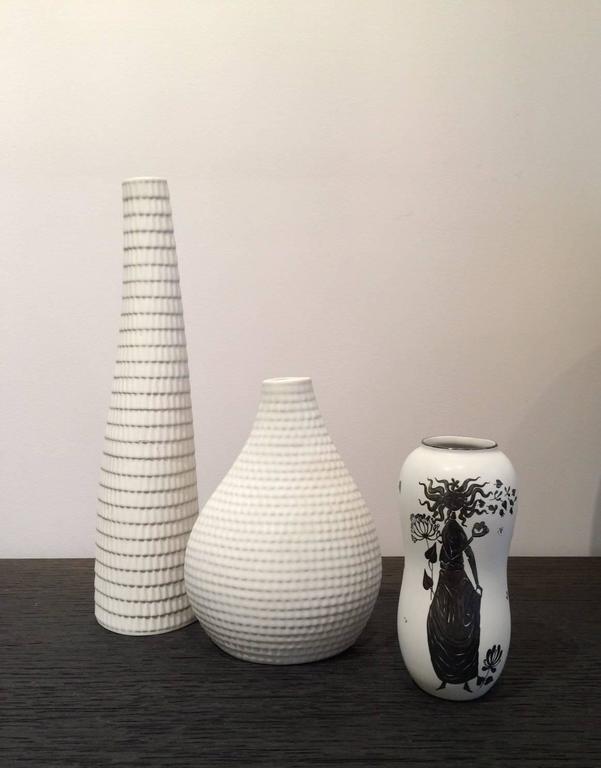 Stig Lindberg For Gustavsberg Set Of Three Vases For Sale At 1stdibs