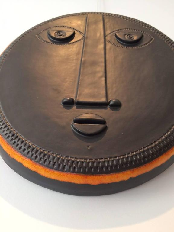 Decorative Ceramic Mask by Dalo In Excellent Condition For Sale In Paris, FR