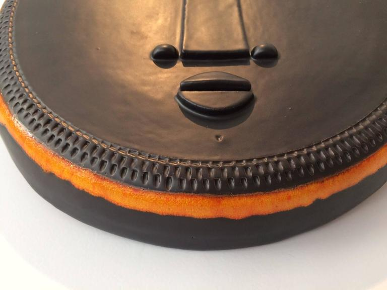 Decorative Ceramic Mask by Dalo For Sale 1