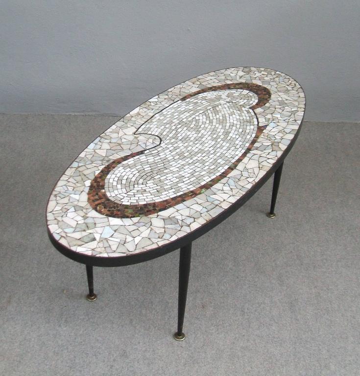Mid Century Tile Top Coffee Table: Mid-Century Tile Mosaic Top Coffee Table At 1stdibs