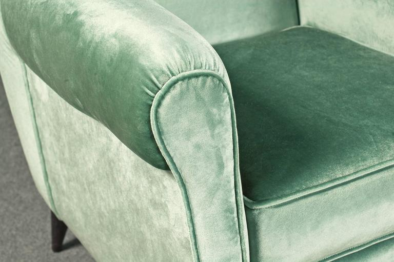 Mid-Century Modern Glamorous Armchairs by Gio Ponti For Sale
