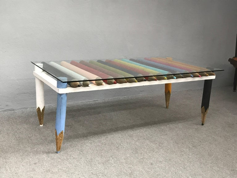 Amazing Coffee Table by Philippe Duplantier For Sale 2