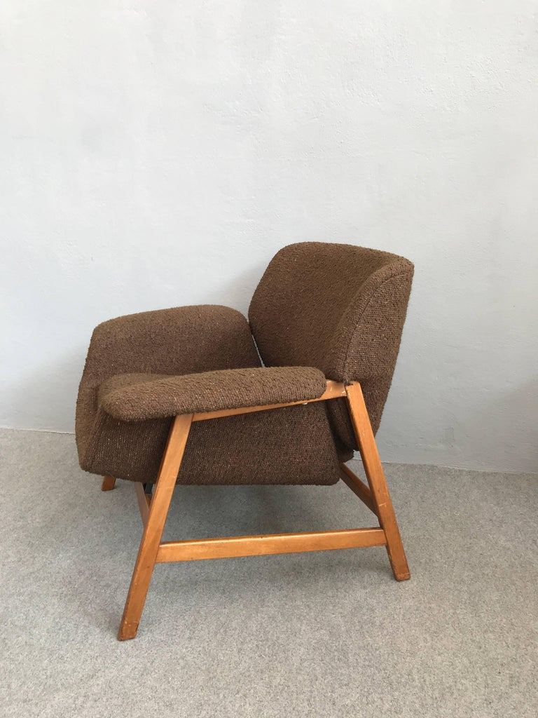 Mid-20th Century Iconic Pair of Armchairs 849 by Gianfranco Frattini for Cassina For Sale