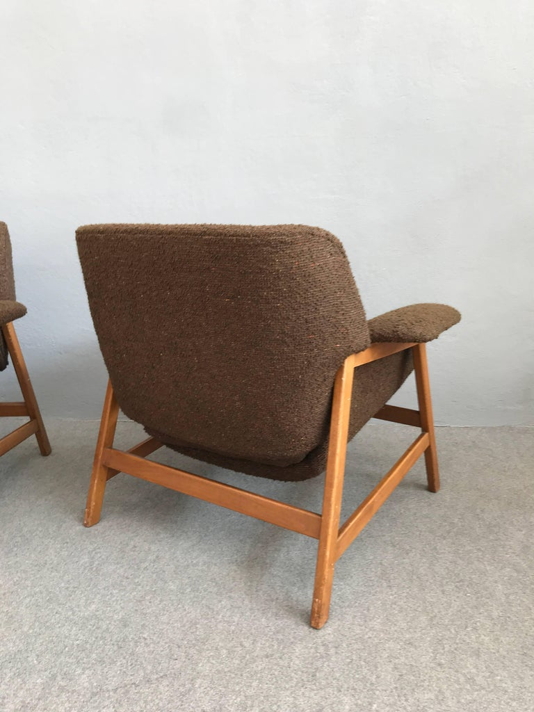 Iconic Pair of Armchairs 849 by Gianfranco Frattini for Cassina For Sale 2