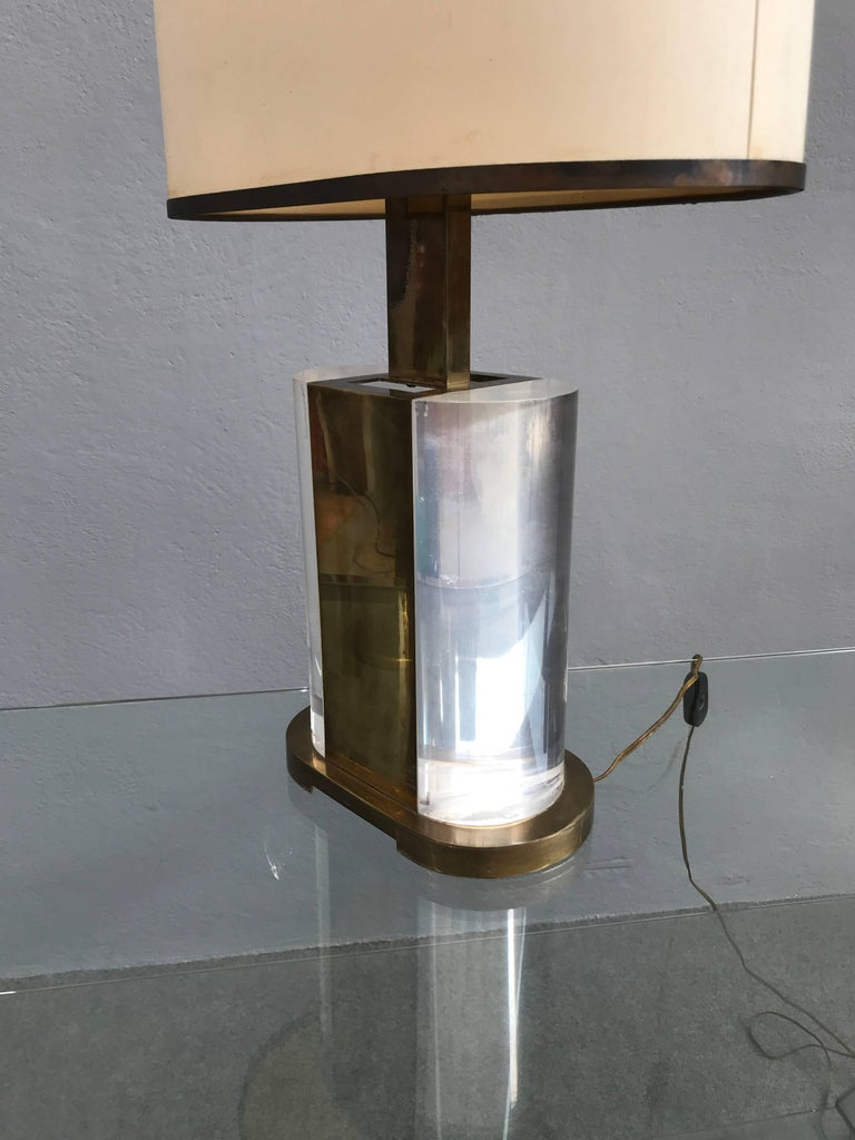 Rare Table Lamp Signed Gabriella Crespi For Sale 3