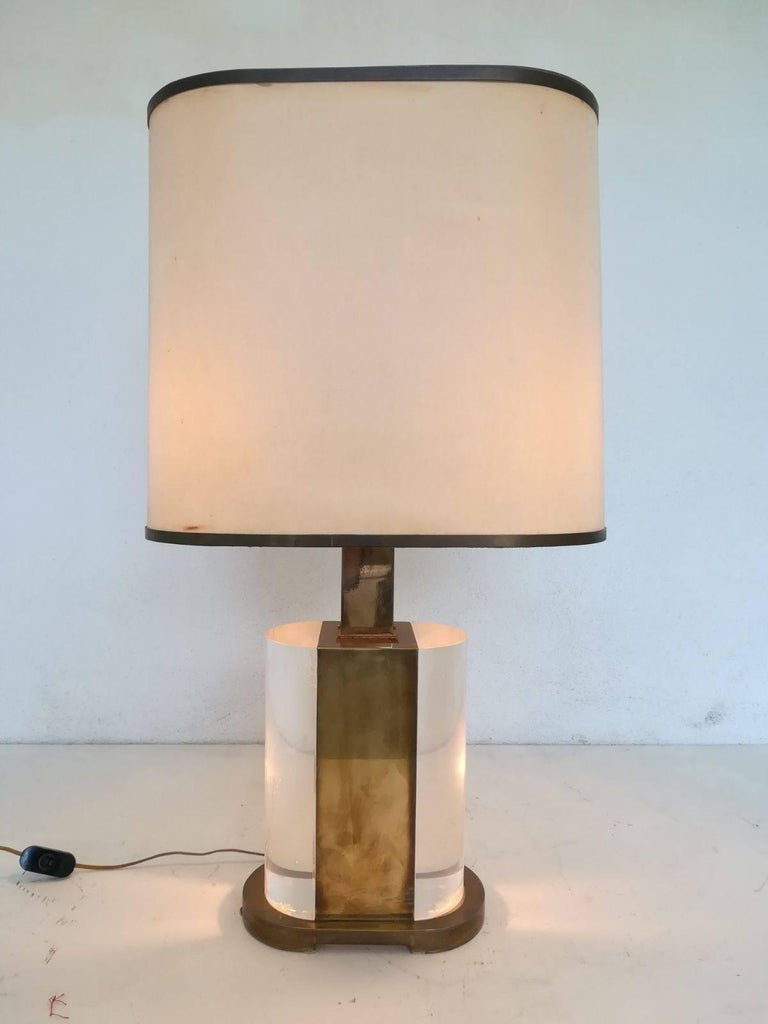 Mid-Century Modern Rare Table Lamp Signed Gabriella Crespi For Sale