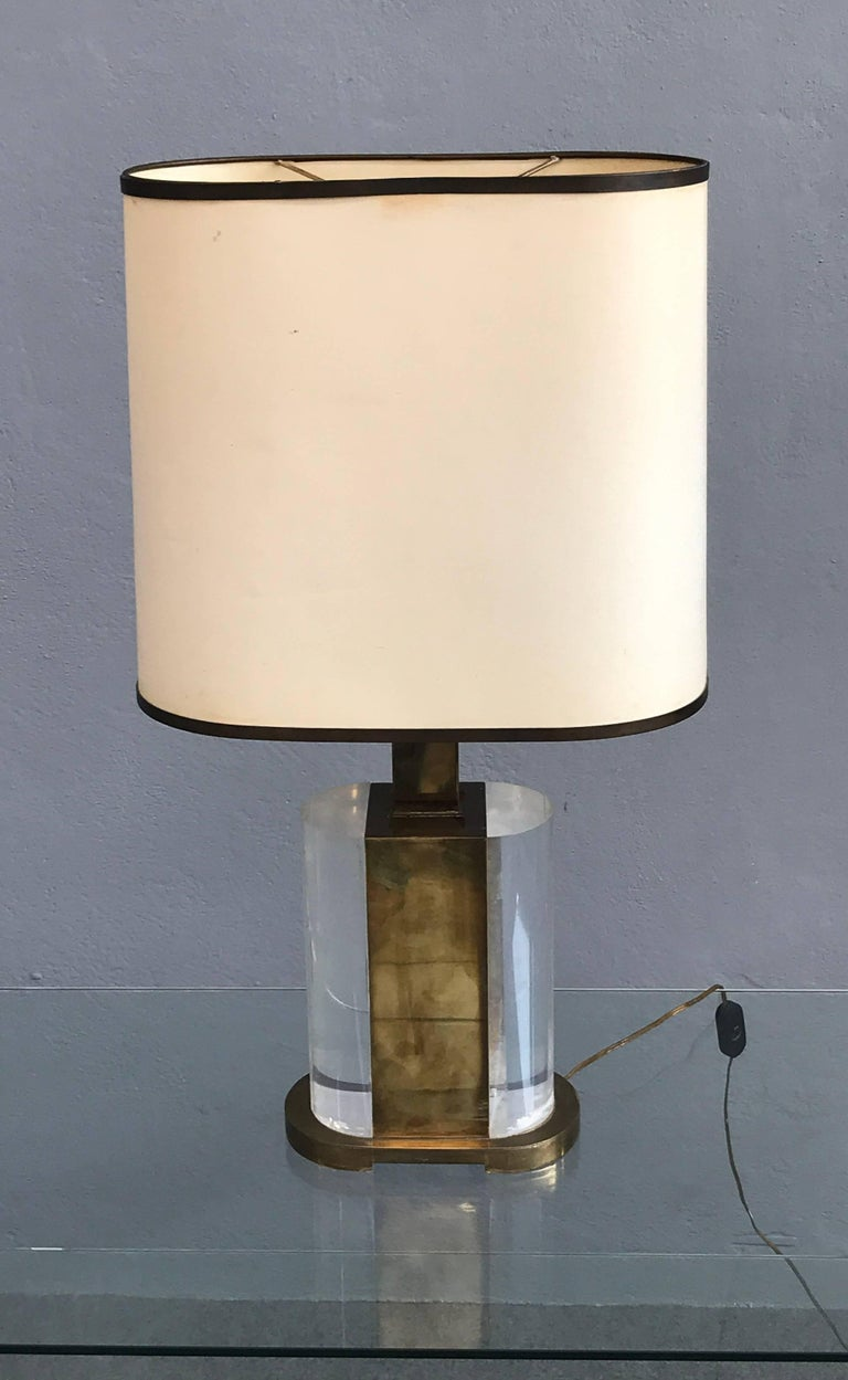 Italian Rare Table Lamp Signed Gabriella Crespi For Sale
