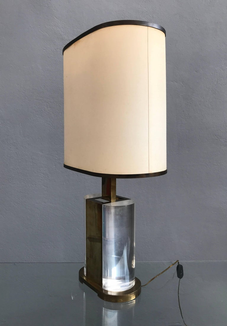 Rare Table Lamp Signed Gabriella Crespi For Sale 2