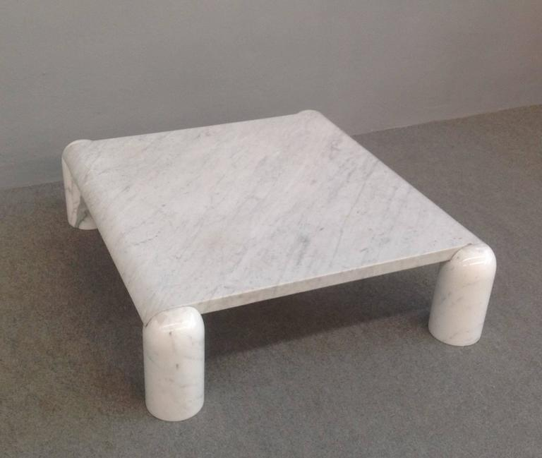 Carrara Marble Coffee Table Attributed to Mario Bellini at 1stdibs