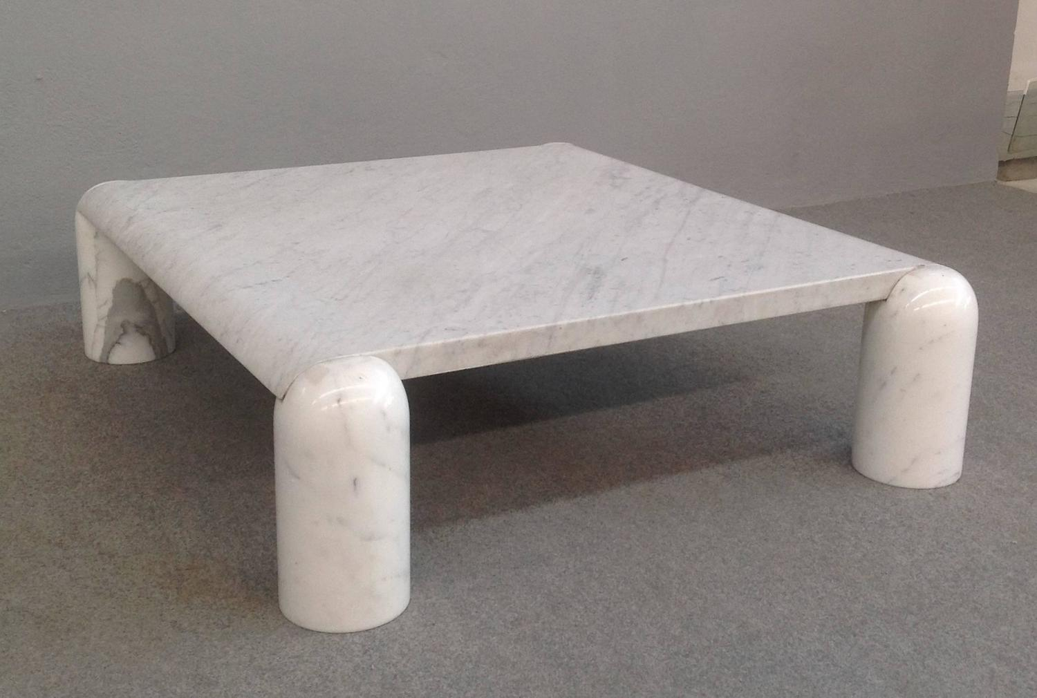 Carrara Marble Coffee Table Attributed To Mario Bellini For Sale At 1stdibs