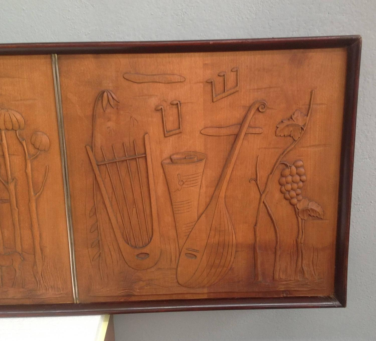 Wonderful image of Art Deco Wood Panel at 1stdibs with #83482B color and 1500x1363 pixels