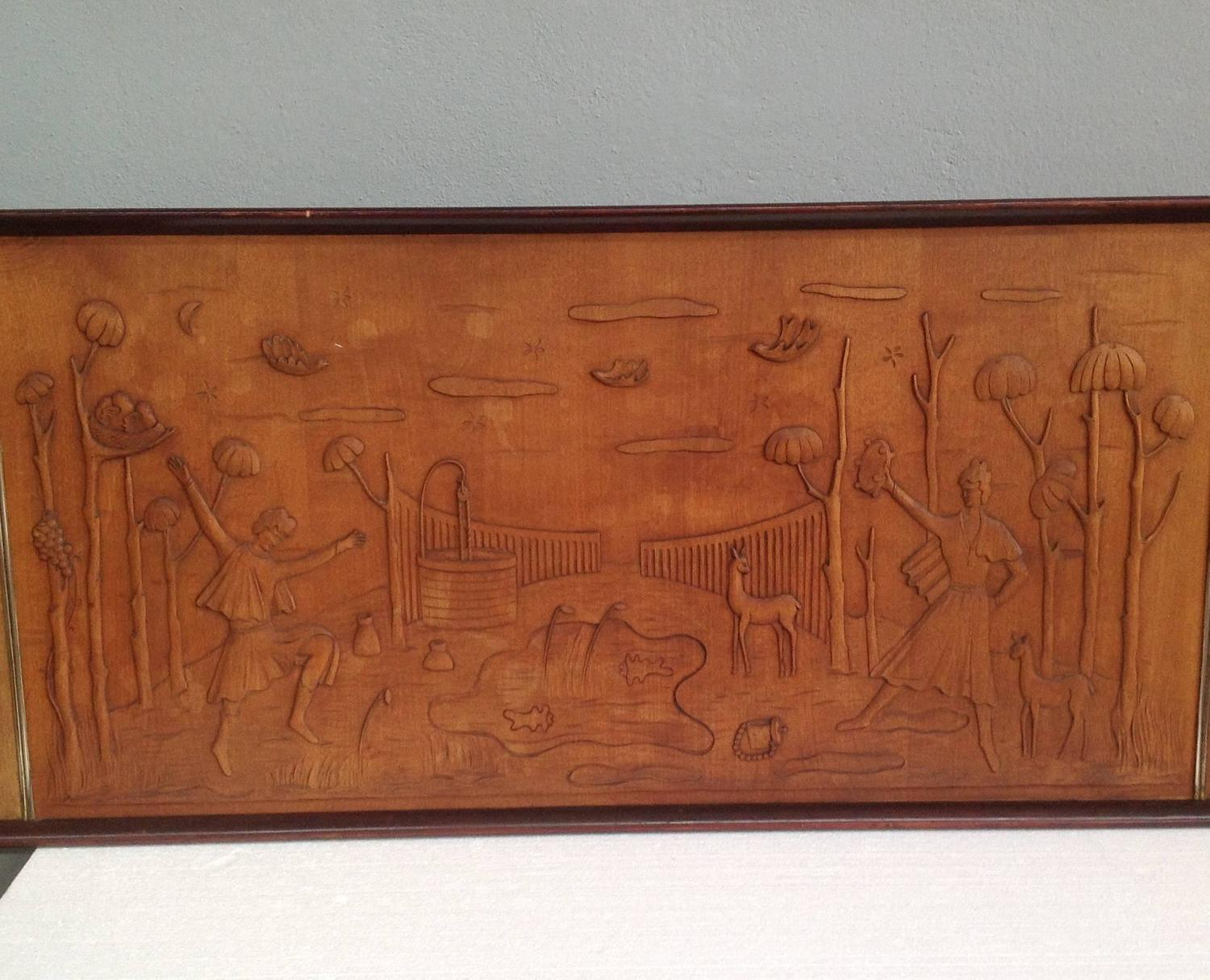 Wonderful image of Art Deco Wood Panel at 1stdibs with #8F4928 color and 1500x1215 pixels