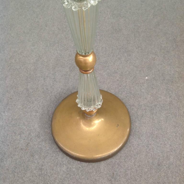 Mid-Century Modern Wonderful Floor Lamp Attributed to Barovier For Sale