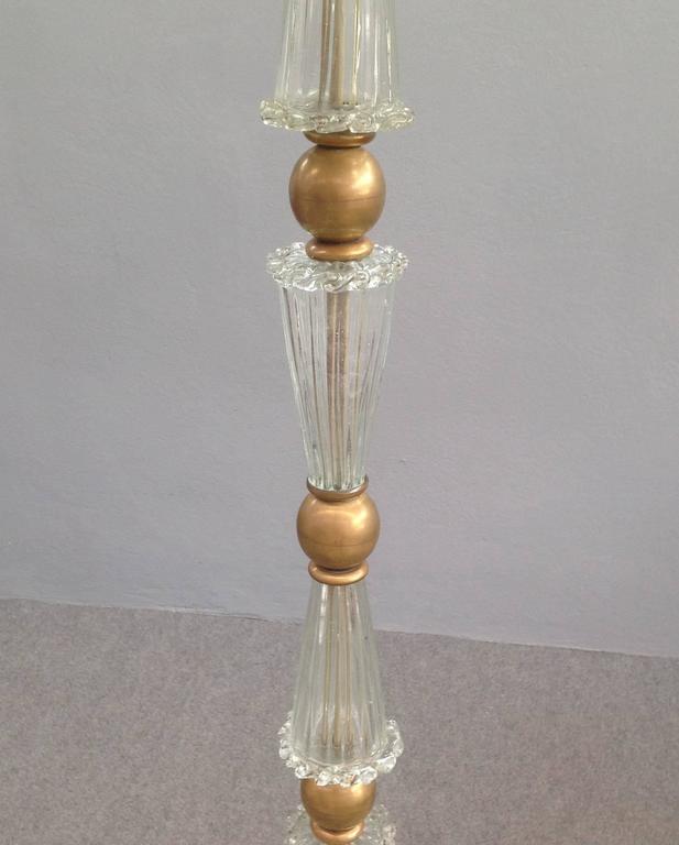 Italian Wonderful Floor Lamp Attributed to Barovier For Sale