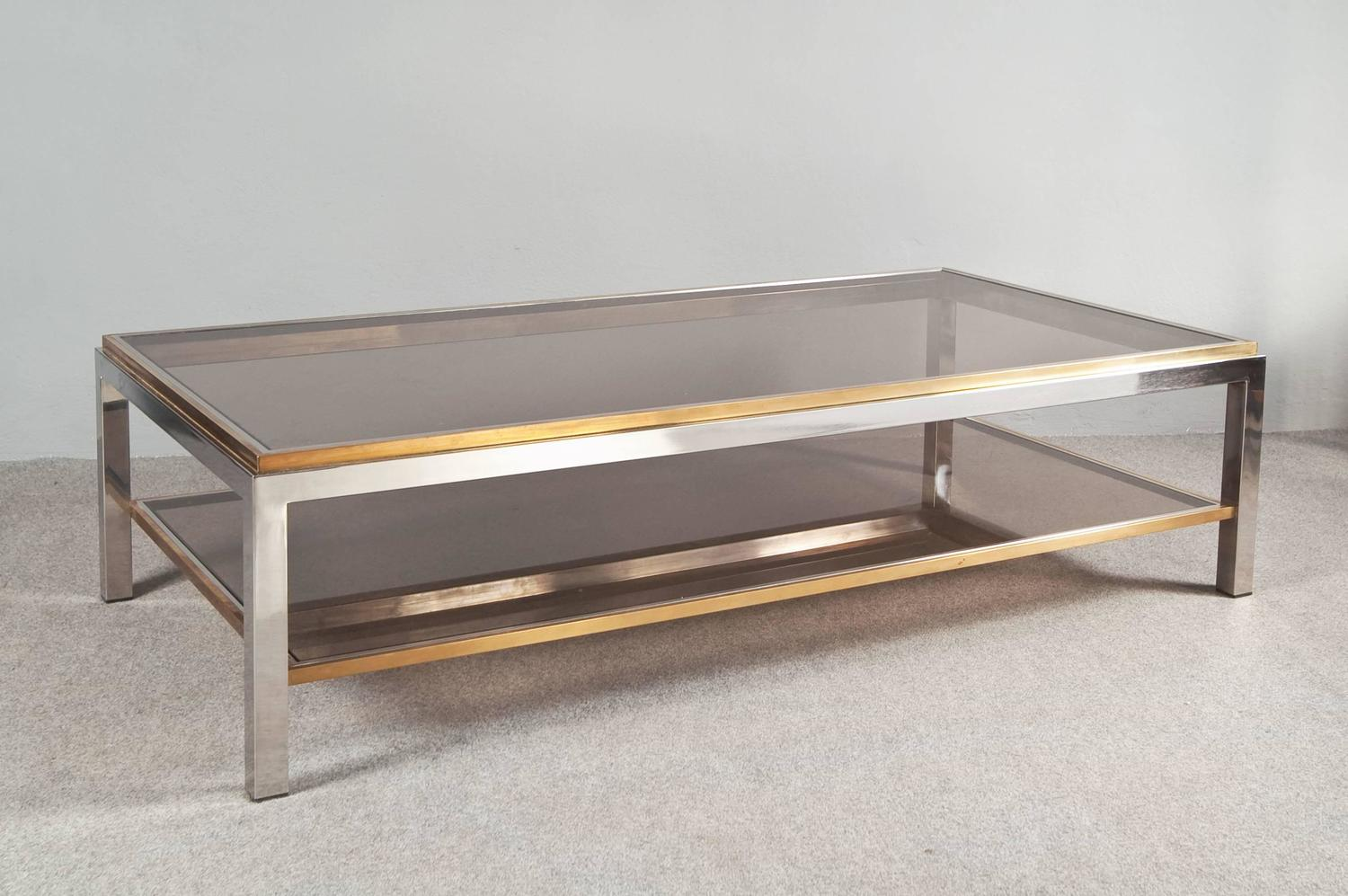 Flaminia coffee table by willy rizzo at 1stdibs for Table willy rizzo