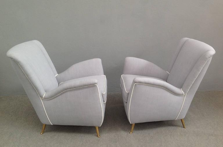 Charming Pair of Armchairs Gio Ponti Style In Excellent Condition For Sale In Carpaneto Piacentino, IT