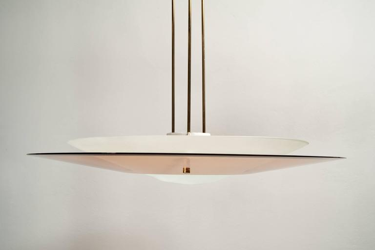 Mid-Century Modern Awesome Max Ingrand for Fontana Arte Chandelier For Sale