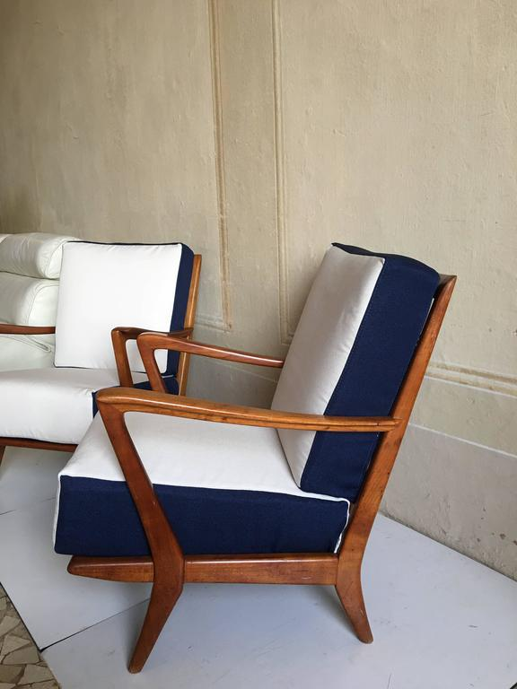 Rare Pair of Armchairs Attributed to Gio Ponti, circa 1950 4