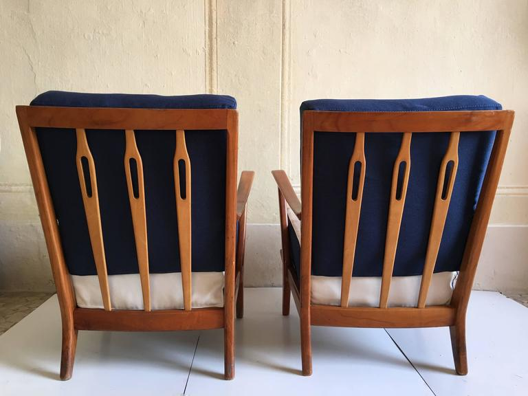 Rare Pair of Armchairs Attributed to Gio Ponti, circa 1950 6